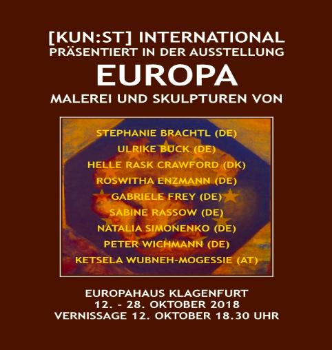 """[KUN:ST] International Ausstellung """"Europa"""" & Vernissage 12. Oktober 2018"""